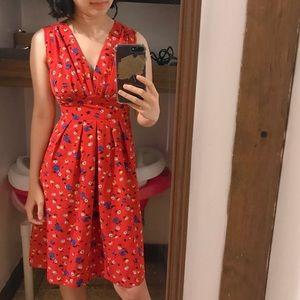 Karen walker x anthropology vintage floral dress